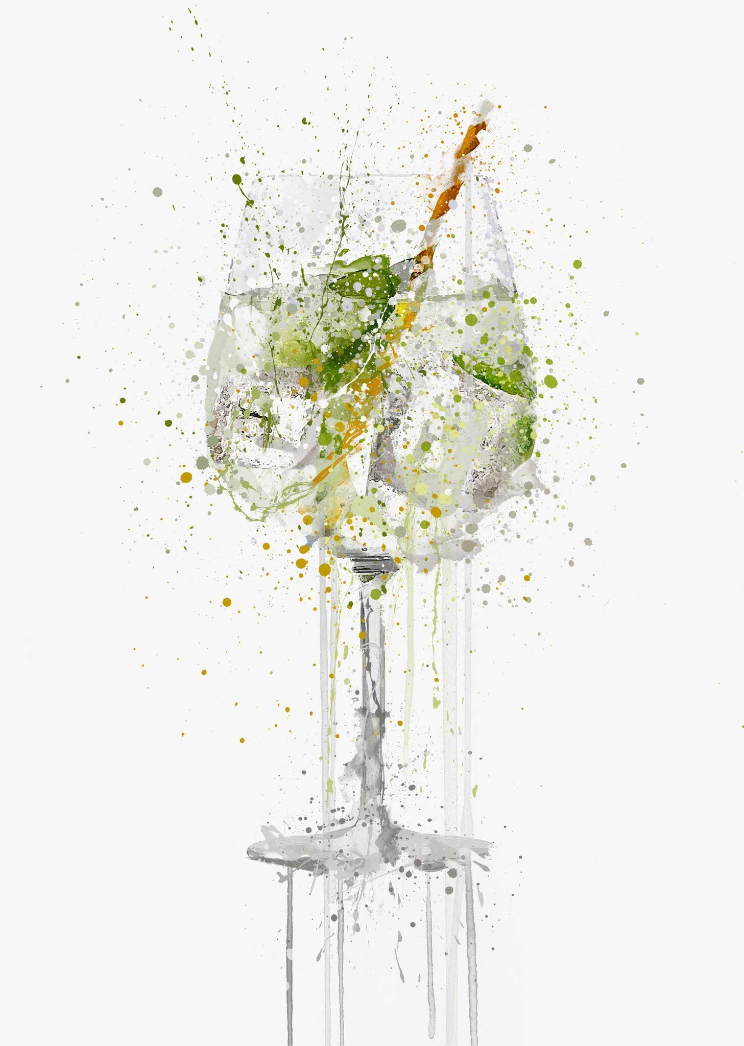 Gin and Tonic 'Goblet' Wall Art Print