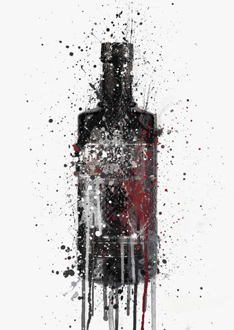 Gin Bottle Wall Art Print 'Dark Sky'-We Love Prints