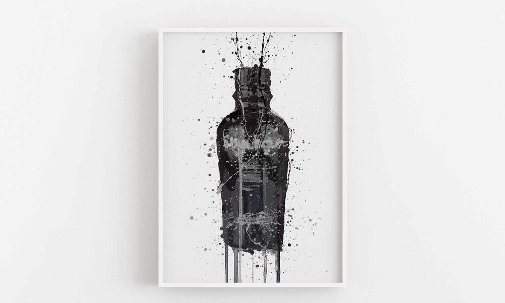 Gin Bottle Wall Art Print 'Granite'-We Love Prints