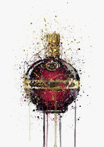 Liqueur Bottle Wall Art Print 'Raspberry'-We Love Prints