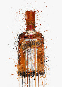 Liqueur Bottle Wall Art Print 'Tangerine'-We Love Prints