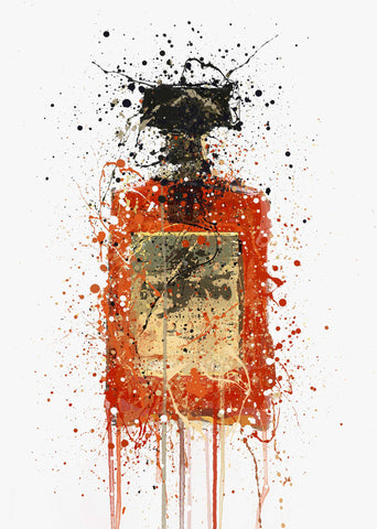 Liquor Bottle Wall Art Print 'Almond'-We Love Prints