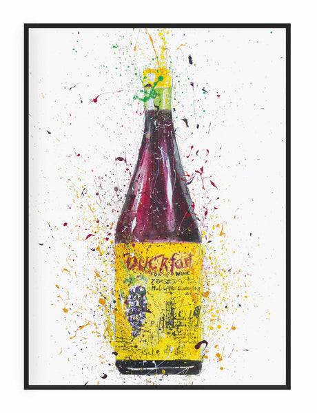 Liquor Bottle Wall Art Print 'Purple Tonic'-We Love Prints
