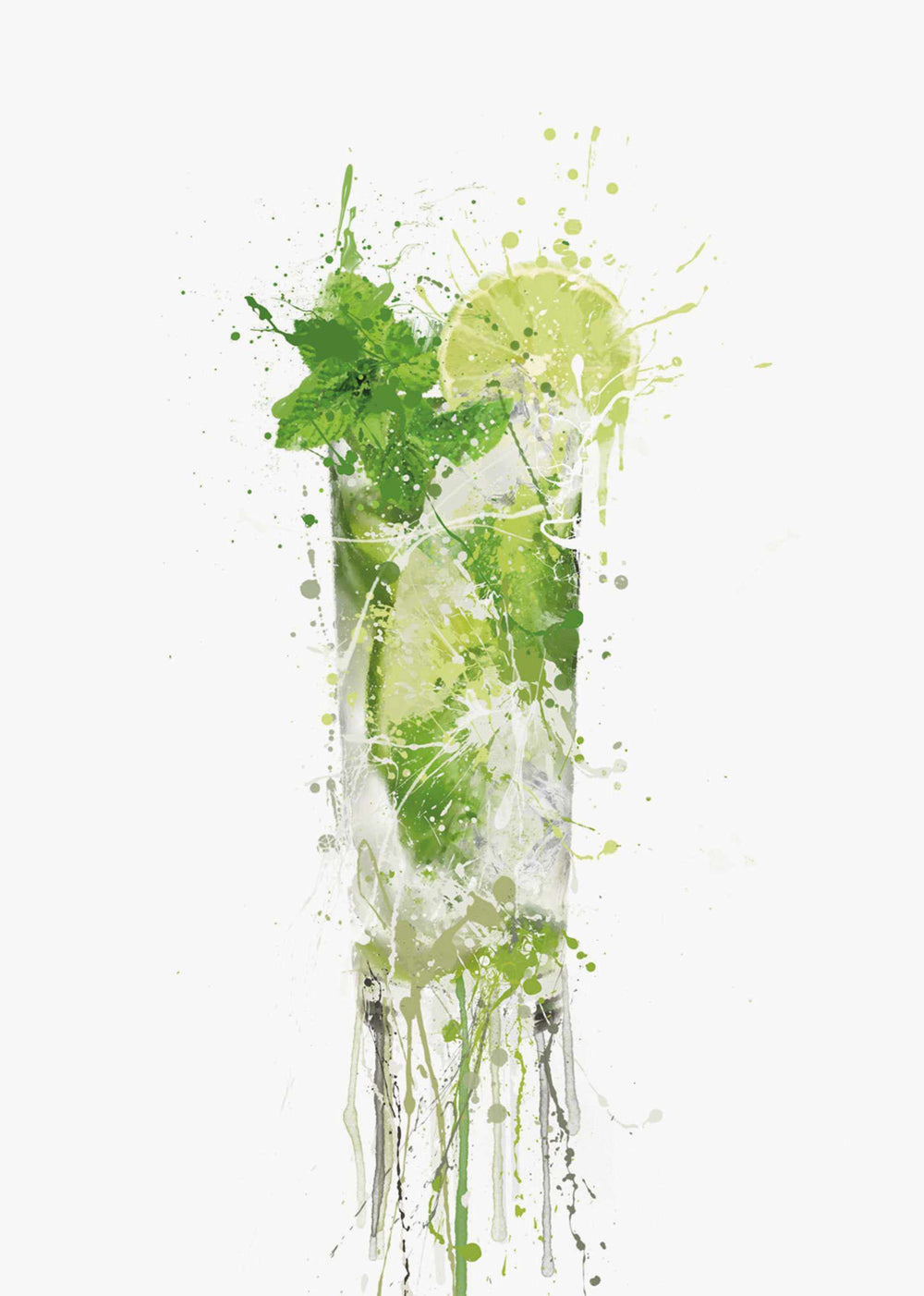 Mojito Cocktail Wall Art Print-We Love Prints