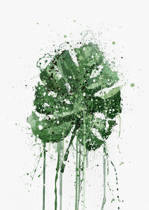 Monstera Leaf Wall Art Print-We Love Prints