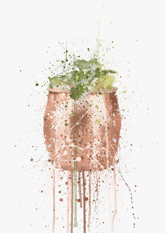 Moscow Mule Cocktail Wall Art Print-We Love Prints