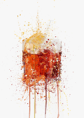 Negroni Cocktail Wall Art Print-We Love Prints