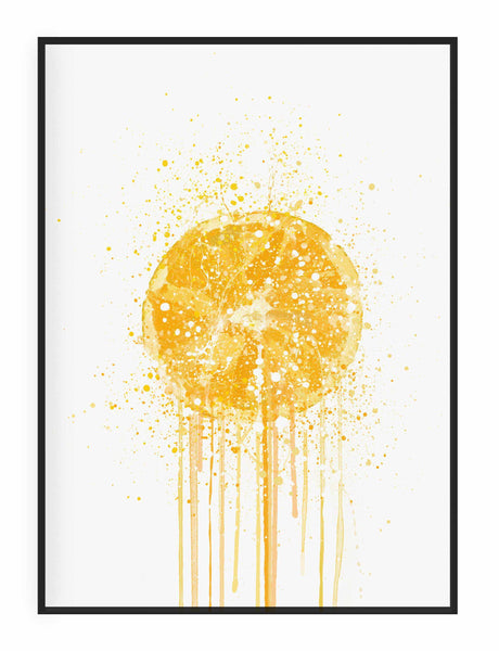Orange Fruit Wall Art Print-We Love Prints