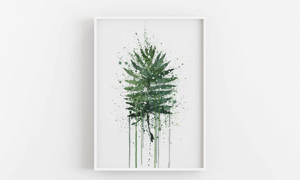 Palm Leaf Wall Art Print-We Love Prints