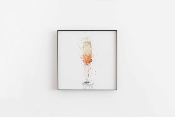 Peach Bellini Cocktail Wall Art Print-We Love Prints