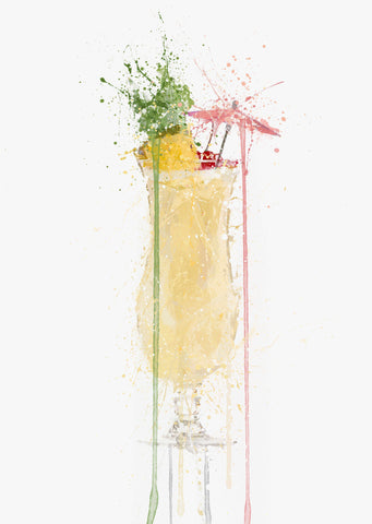 Pina Colada Cocktail Wall Art Print-We Love Prints