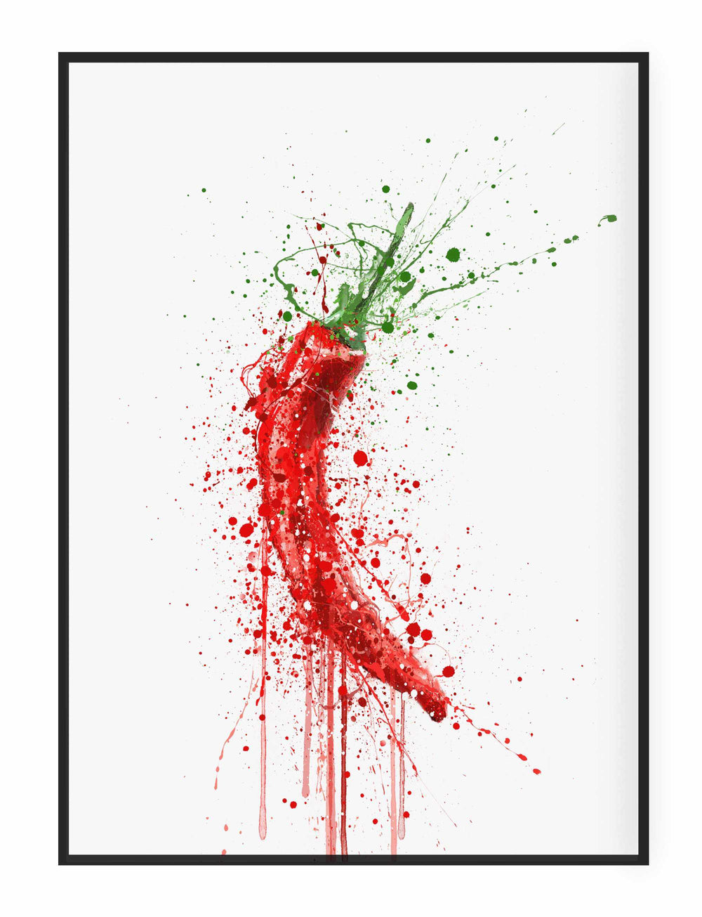 Red Chilli Wall Art Print-We Love Prints