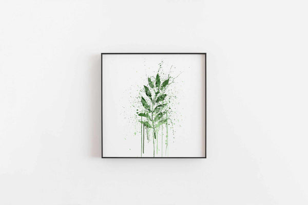 Rowan Leaf Wall Art Print-We Love Prints