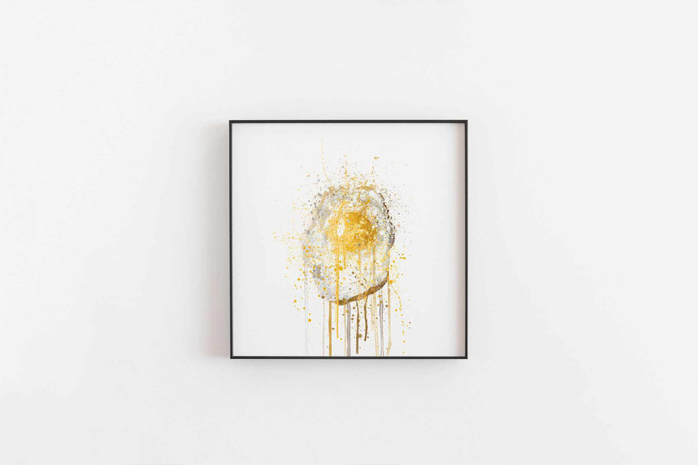 Runny Egg 2 Wall Art Print-We Love Prints