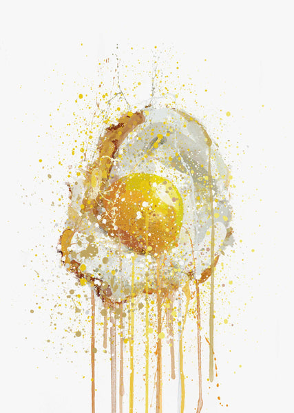 Runny Egg 3 Wall Art Print-We Love Prints