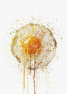 Runny Egg Wall Art Print-We Love Prints