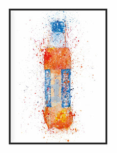 Framed Scottish Soda Bottle Wall Art Print 'Tangerine'-We Love Prints