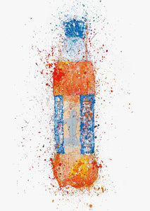 Soda Bottle Wall Art Print 'Tangerine'-We Love Prints