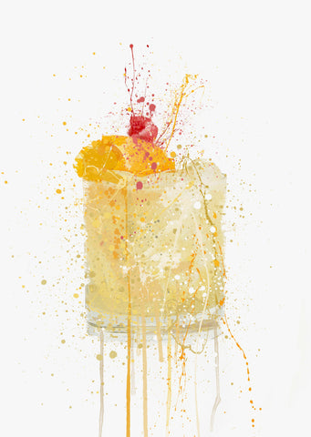 Whiskey Sour Cocktail Wall Art Print-We Love Prints