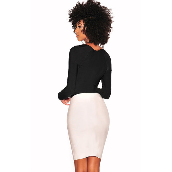 European and American Smash - Up Hip - Hip Pencil Skirt Sexy Dress Club
