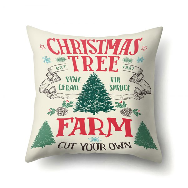 Snowy deer Christmas tree hug pillowcase