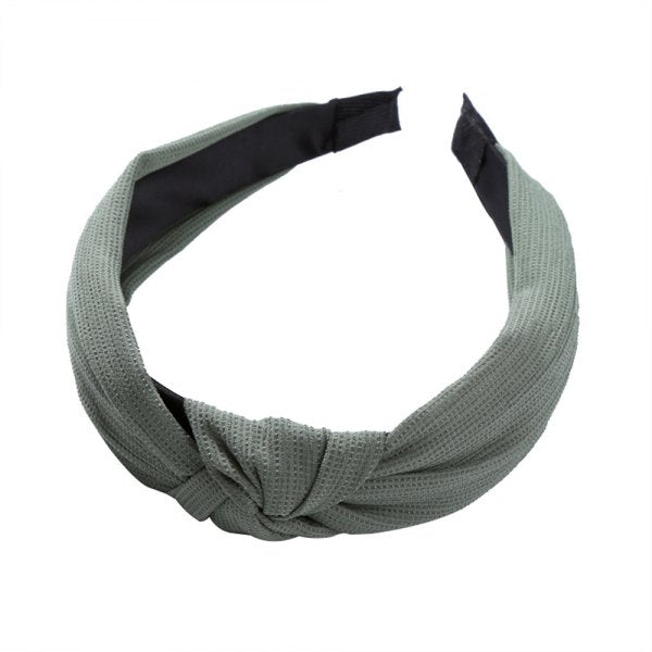 Wide Edge Fabric Simple Joker Cross Knot Show Face Small Hairband