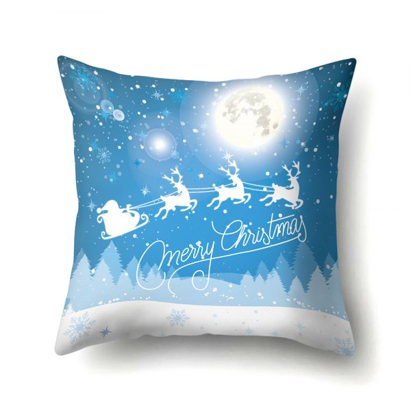 Christmas elk snow scene pillowcase