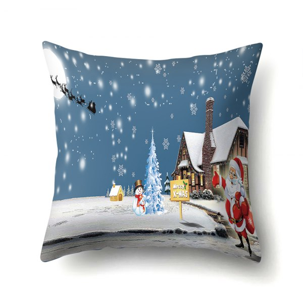 Christmas tree old man elk sleigh hug pillowcase