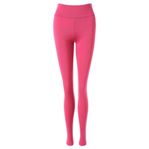 Active Elastic Waist Solid Color Skinny Women's Pants