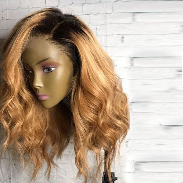 Long Side Parting Bouffant Wavy Synthetic Wig