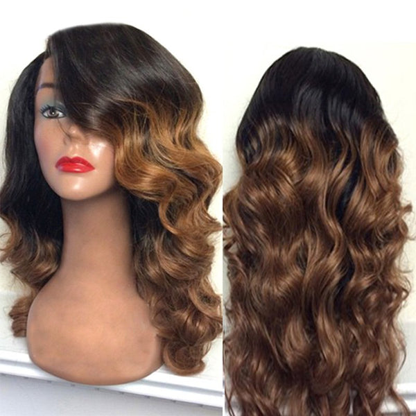 Long Side Part Colormix Body Wave Synthetic Wig
