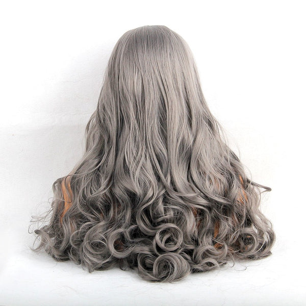 Long Middle Part Fluffy Curly Synthetic Fiber Wig