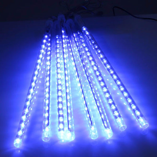 30CM 8 Tubes Christmas LED Meteor Shower Rain Lights Snow Falling Raindrop Cascading Outdoor AC 110