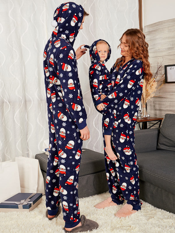 Santa Claus Printed Matching Family Christmas Pajama Sets