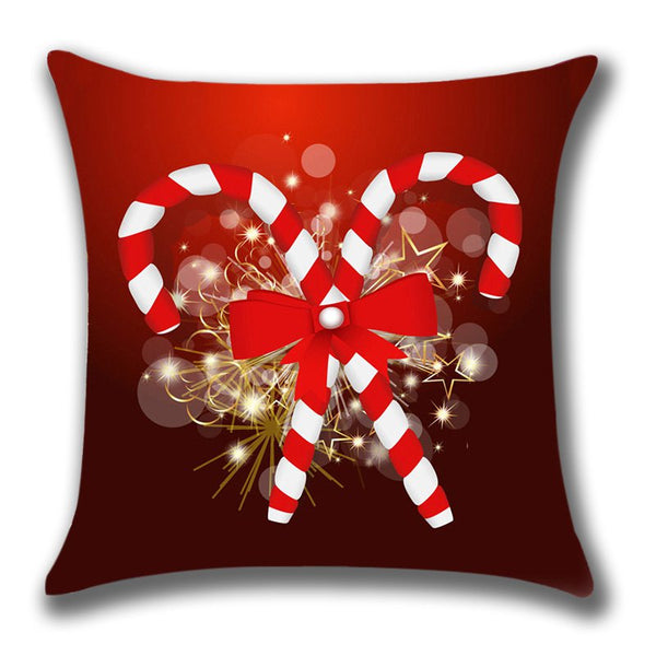Christmas Candies Canes Pattern Throw Pillow Case