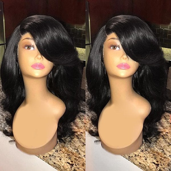 Long Side Parting Wavy Heat Resistant Synthetic Wig