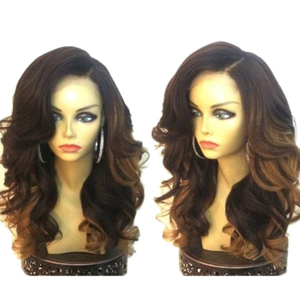 Long Side Parting Colormix Loose Wave Synthetic Wig