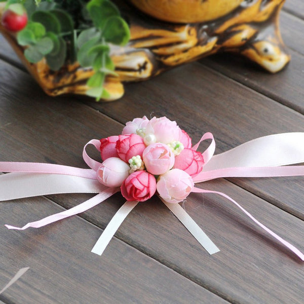 The Rose Emulational Wrist Flower Decoration
