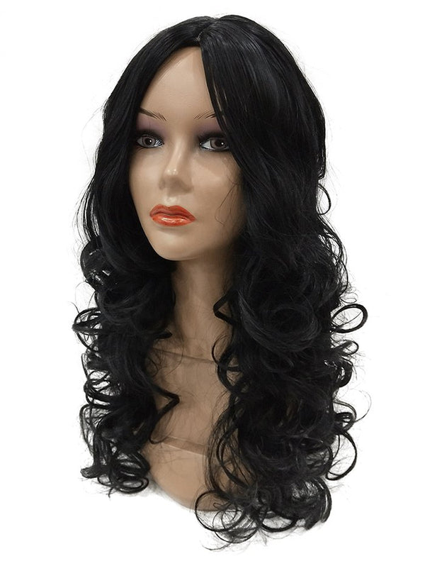 Long Center Parting Curly Synthetic Wig