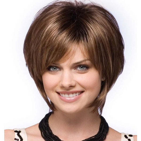 Short Fluffy Straight Hair Wig