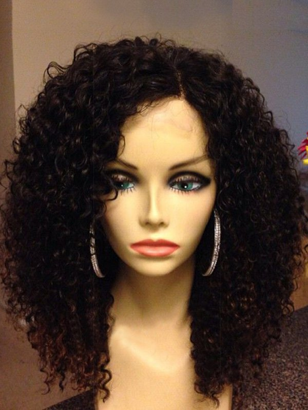 Side Parting Shaggy Long Curly Synthetic Wig