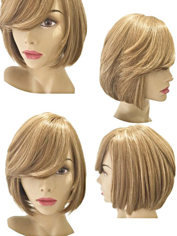 Short Side Bang Straight Bob Party Synthetic Wig