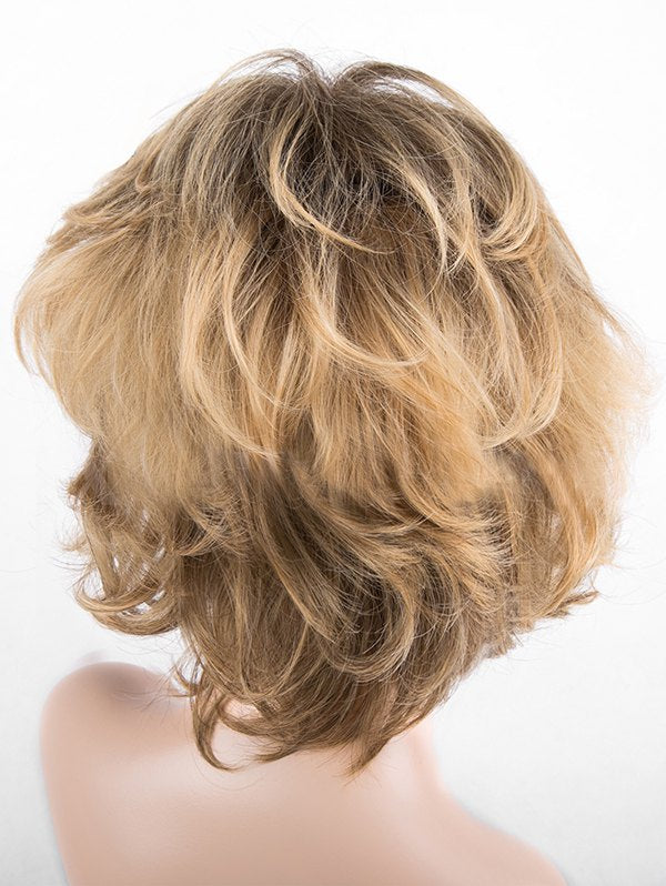 Short Side Bang Colormix Slightly Curly Synthetic Wig