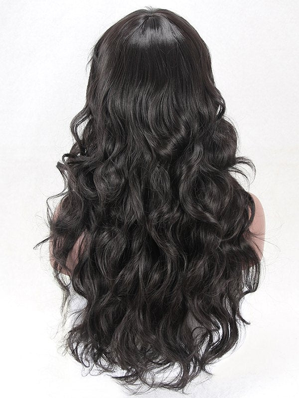 Long Side Bang Body Wave Heat Resistant Synthetic Wig
