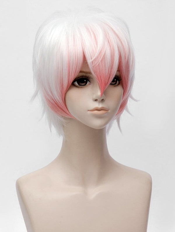 Mystic Messenger Saeran Cosplay Short Side Bang Colormix Straight Synthetic Wig
