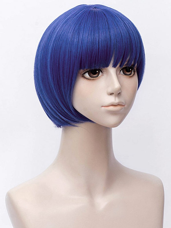 Short Full Bang Straight Anime Land of the Lustrous Lapis Lazuli Cosplay Synthetic Wig