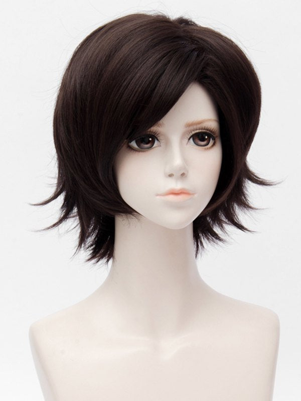Short Side Bang Straight Mystic Messenger Jumin Han Cosplay Synthetic Wig