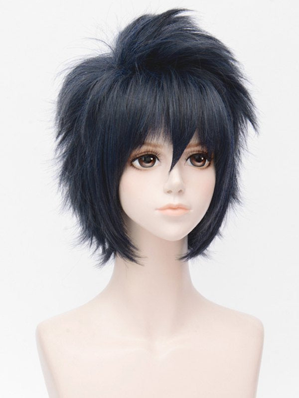 Short Side Bang Fluffy Straight Cosplay Synthetic Wig