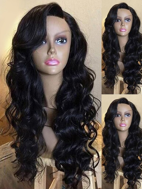 Long Side Parting Wavy Heat Resistant Synthetic Party Wig