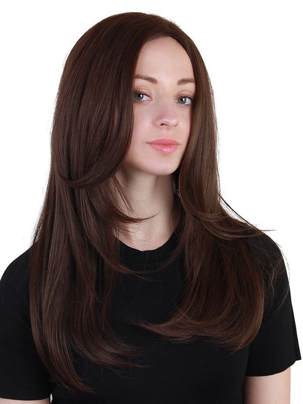 Long Middle Part Layered Straight Synthetic Wig